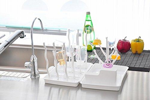 リトルプリンセスコンパクトほ乳瓶ラック(ホワイト)