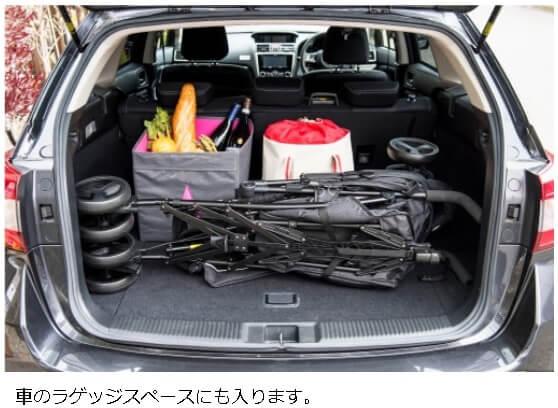 車のトランクにはいる
