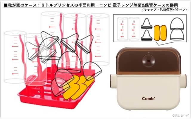 使用シミュレーションリトルプリンセスコンパクトほ乳瓶ラック③