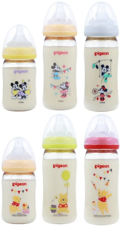 母乳実感プラスチックミッキー&ミニー・くまのプーさん
